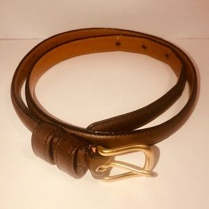 Coach Women's Vintage Skinny Leather Belt EUC